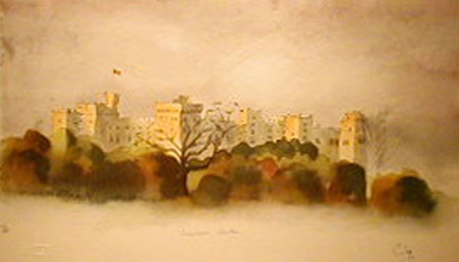 Painting by Prince Charles of England: Windsor Castle