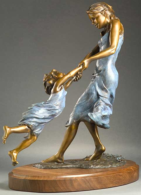 Bronze Sculpture by Tim King: Spring Flowers