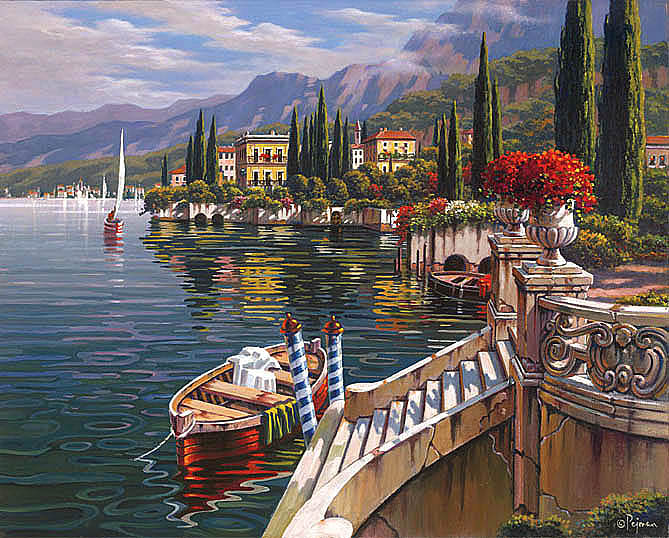 Painting by Robert Pejman: Morning in Varenna