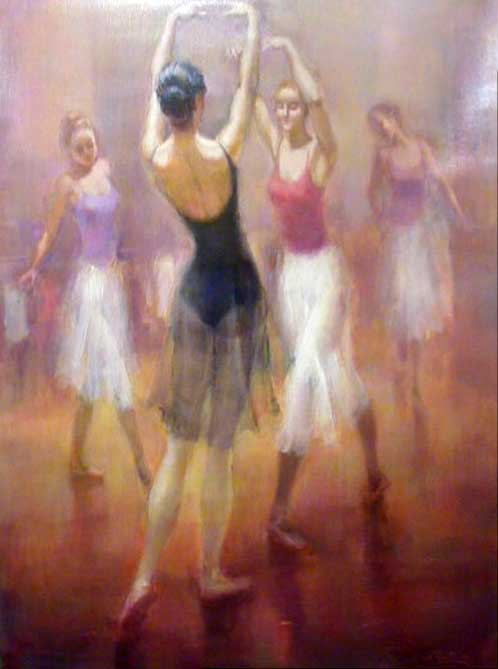 Painting by Gustavo Pujalte: The Dance