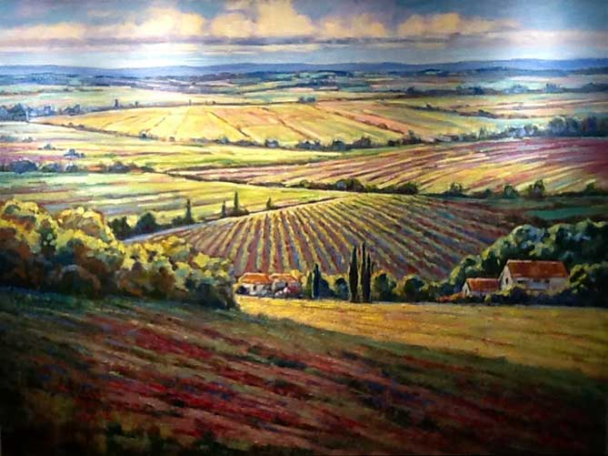 Painting by Roman Czerwinski: Tuscan Fields