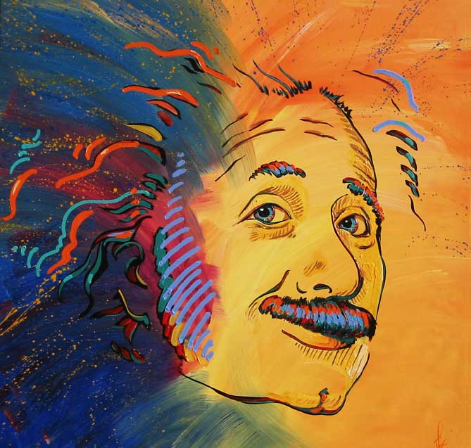 Painting by Mimi Stuart: Einstein